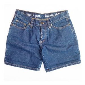 All Saints Boyfriend Denim Shorts